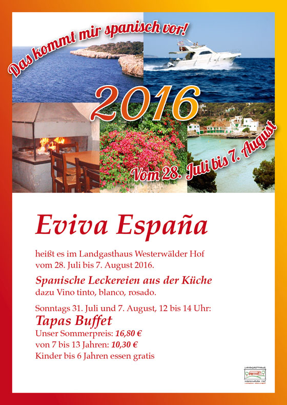 Einladung Eviva Espana 2016